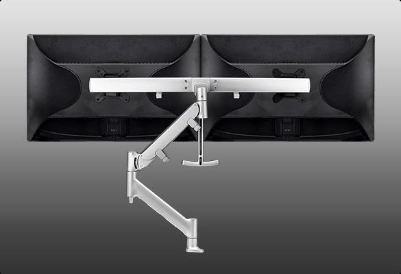 AWMS-RHXB interactive dual display desk mount