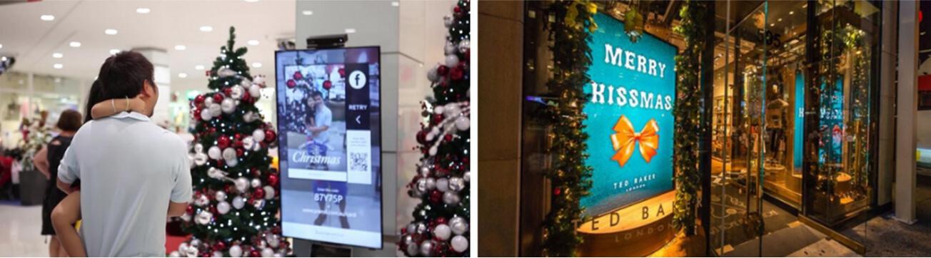 In-window digital signage